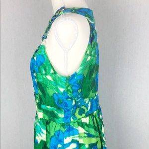 Eliza J Dresses - Eliza J Green & Blue Fit & Flare Dress